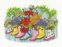 "DMC Counted Cross Stitch  Kit ""Blossoming Wellies"""