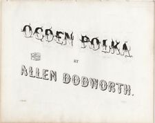 Ogden Polka, Allen Dodworth, 1849, antique sheet music
