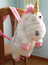 """New Despicable Me 2 Cute Unicorn Backpack 26"""" Plush Toy School Bag"""