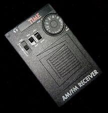 VINTAGE TIME MAGAZINE AM/FM ENTERPACK TRANSISTOR RADIO-WORKS-NEAR MINT!
