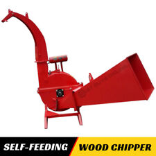 """Wood Chipper 6 """" Tractor PTO Driven Self Feeding High Discharge Powerful"""