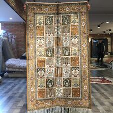 Yilong 3'x5' Four Seasons Hand Knotted Silk Area Rug Kid Friendly Carpet WY203C