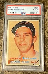 1957 Topps #328 Brooks Robinson RC ROOKIE PSA 2
