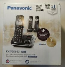 Panasonic Cordless Phone with Link to Cell and Digital Answering Machine, 3