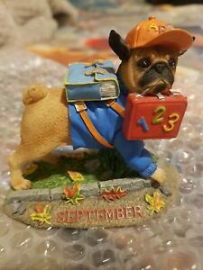 danbury mint pug, September pug in excellent condition lovely details.