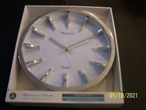 "NEW Westminister Clock Company London 12 "" Wall Clock Quartz Accuracy Glass Lens"