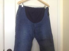 WOMENS  Motherhood Maternity Pregnancy Jeans Size Medium INSEAM 27 INCHES EUC
