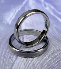Wolfram/Tungsten Carbide Smal ring - 3,5mm de ancho-pulido/cepillado-Titan Hart