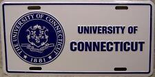 NCAA Aluminum License Plate Connecticut Huskies NEW
