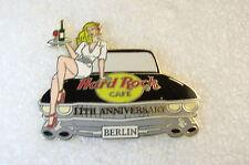 BERLIN,Hard Rock Cafe Pin,11TH ANNI,SEXY Girl on a car