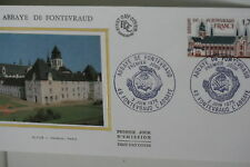 ENVELOPPE PREMIER JOUR SOIE 1978 ABBAYE DE FONTEVRAUD
