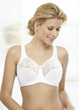 GLAMORISE Bra 38B 38 B SUPPORT ~ NO-Poke Underwire! 2-Way-STRETCH White NEW $40