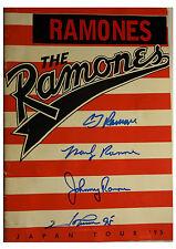 SIGNED RAMONES AUTOGRAPHED JAPAN FINAL TOUR BOOK PROGRAM W/ JSA LOA X84082