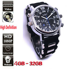 32GB Men's DVR Spy Sport DV Watch HD 720P Hidden Video Camera Recorder Camcorder