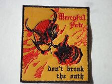 MERCYFUL FATE DON'T BREAK THE OATH EMBROIDERED PATCH