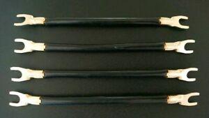 Bi - Wiring Hifi Lautsprecher Kabelbrücken vergoldet 4 Stück Top Klang
