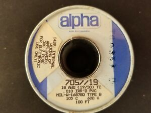 Alpha Wire Corp 7057/19 18AWG,(19/30) PVC, Type B, 100ft. Brown