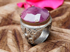 antik orient silber statement Rubin ring  aus Afghanistan ruby ring Nr:17/473