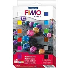 Fimo Soft Modelliermasse Set, 12x 25 g, ofenhärtend, Blöcke, Knete, Knetmasse