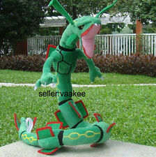 "Pokemon Center Go Rayquaza 32"" Dragon Plush Toy Stuffed Animal Doll Nintendo"