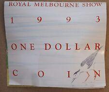 1993 Australia Dollar $1 M Mintmark Royal Melbourne Show Landcare MS UNC