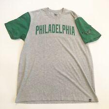 47 Brand Mens T-Shirt Philadelphia Eagles Green Gray Patch Tee Size XL
