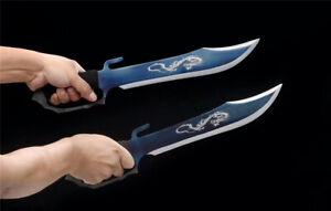 Butterfly Knives Wing Chun Martial Arts Dao Sword Sharp Blue Manganese Steel Bla