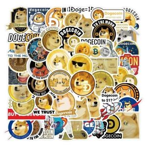 50Pcs Doge Decal Stickers Space Dogecoin Astronaut Toy Sticker Cool For Coinbase