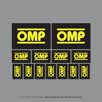 SKU2461 - 13 x OMP Stickers - Motorcycle - Rally - Car Decals
