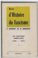 Revue d'Histoire du Fascisme / N°7 / Automne 1975 / François DUPRAT / A RENAULT