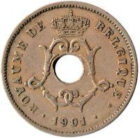 COIN / BELGIUM / 10 CENTIMES 1901  #WT3190
