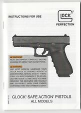Instructions for Use (Instruction Manual) Glock Safe Action Pistols - All Models
