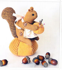 PATTERN - Bitty Squirrel - cute pincushion PATTERN - Bunny Hill designs