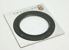 "Linhof Technika 4x5"" Mod. III Center Lens Board W/Logo & Retaining Ring 58.6mm."