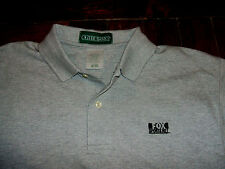 Fox Sports Net Embroidered Gray Polo Shirt Medium Outer Banks 100% Cotton