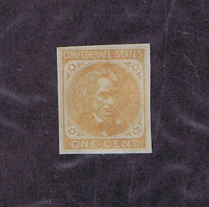 SCOTT #CSA14 P5, 1862, UNUSED 1c SINGLE FROM PLATE PROOF, PF CERT