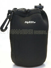 "CUSTODIA BORSA OBIETTIVO IN NEOPRENE ""L"" FINO A 20 cm. LENS BAG DIGITAL HD"