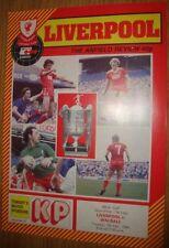 Walsall Final Football League Cup Fixture Programmes (1980s)