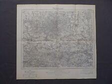Karte des Deutschen Reiches 391 Oschatz, Riesa, Dahlen, Strehla, Schildau, 1920