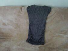 Womens Size 10/12 - Grey Marl Short Sleeve Ribbed Dress - Zara