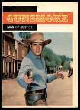 1958 TOPPS T.V. WESTERNS GUNSMOKE - MAN OF JUSTICE #4 MINT OTR2T1