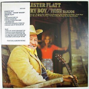 LESTER FLATT Country Boy LP 1973 BLUEGRASS NM- NM-