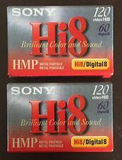 2 New Sealed Sony Hi8 HMP 120 min Digital8 Camcorder Cassette