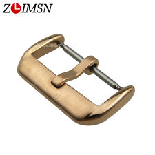 HQ Watch Bands Strap Electroplate Metal Buckle Stainless Steel Pin Clasp 10~22mm