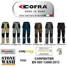 Pantalone da lavoro con ginocchiere MULTITASCHE CARPENTER COFRA EN ISO13688:2013