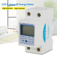220V 5(80)A 50HZ Power Meter Contatore Energia Elettrica KWH Guida DIN Rail LCD
