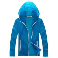 Unisex Sport Skin Jacket Quick Dry Hiking Jacket Solid Waterproof Sun&UV Coats