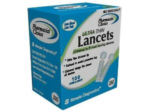 Pharmacist Choice Twist Top Lancets 100 BX 33G