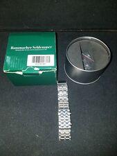 Hammacher Schlemmer Faceless Watch - Blue LED lights with Silver Band