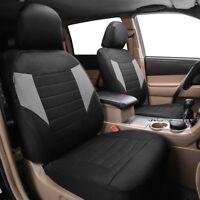 Universal Car Seat Cover 2 Front Black Grey For Hyundai Honda Toyota CRV4 Holden